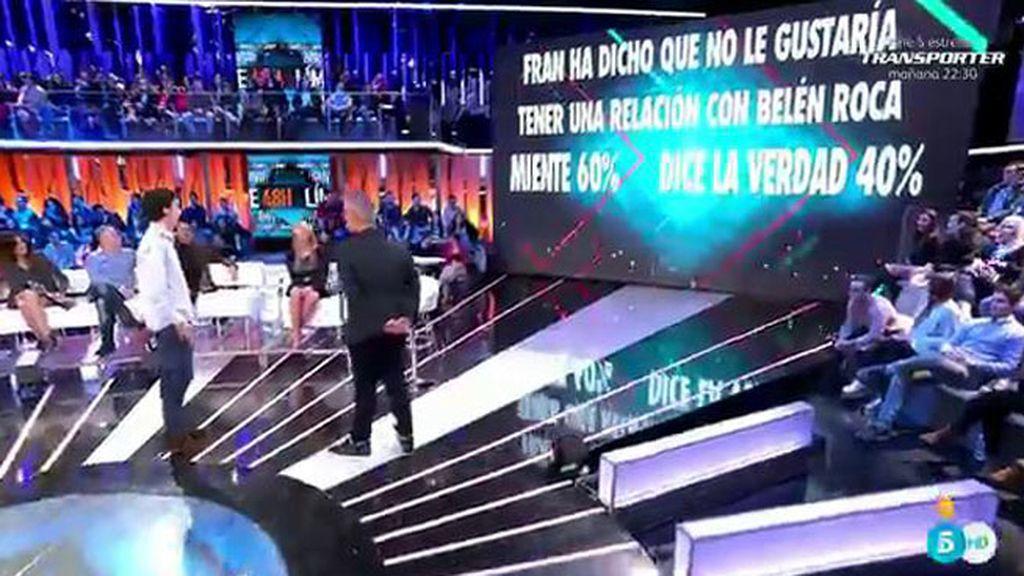 La audiencia cree que Fran quiere tener una relación con Belén Roca