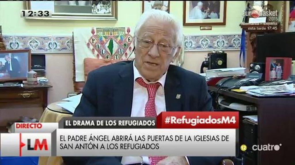 """Padre Ángel, sobre los refugiados: """"Vienen a buscar poder vivir"""""""