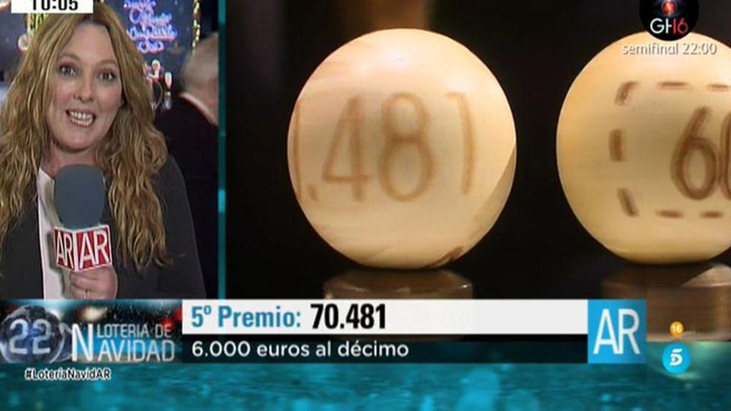 70.481: 5º premio de la Lotería de Navidad