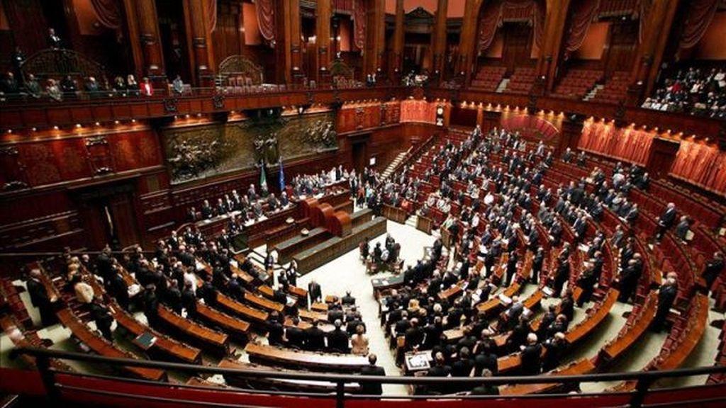 Vista general de la sesión de la Cámara Baja del Parlamento italiano en Roma, Italia.