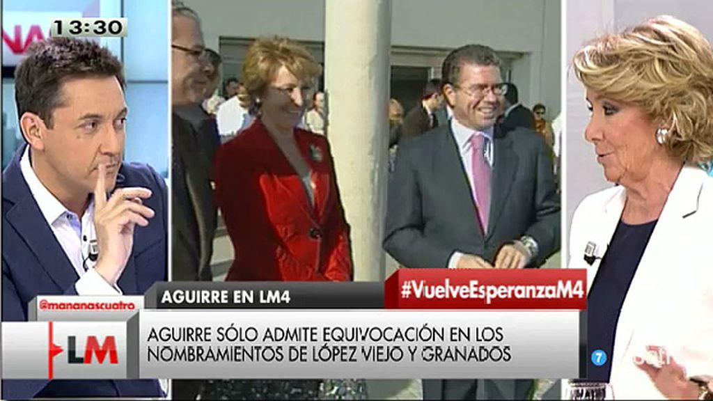 Aguirre mantiene que sólo dos personas a quien ella nombró han sido imputadas