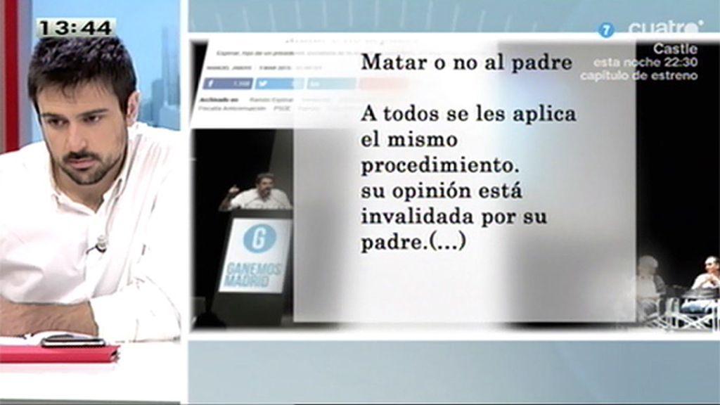 """Ramón Espinar: """"Lo que hagan otras personas no forma parte de mi responsabilidad"""""""