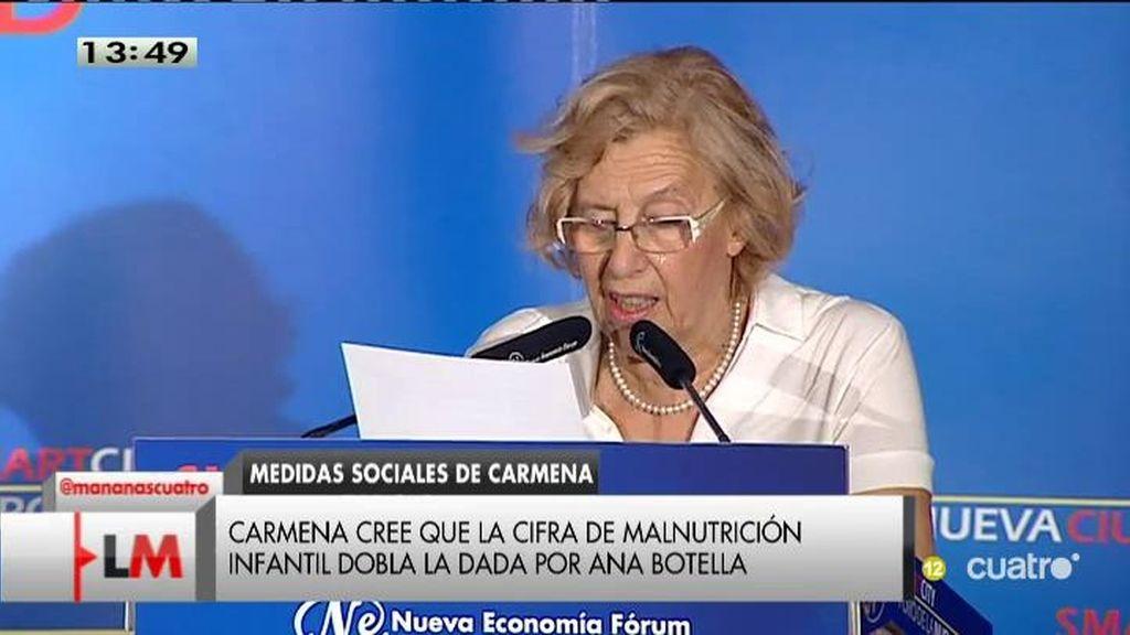 Manuela Carmena distribuirá 110.000 raciones a familias necesitadas este verano
