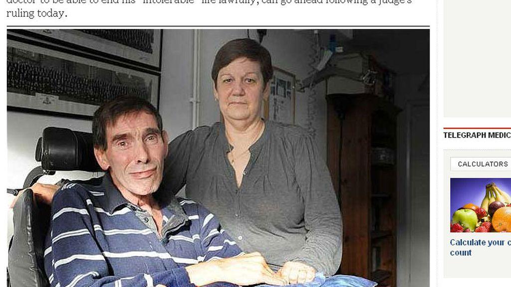 Tony Nicklinson y su mujer, Jane