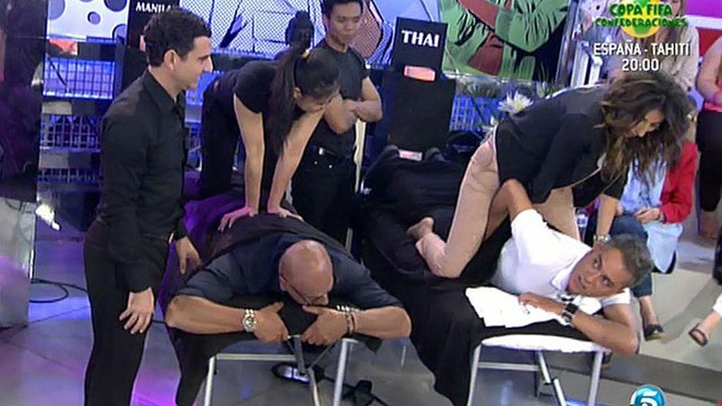 La presentadora casi acaba en el suelo
