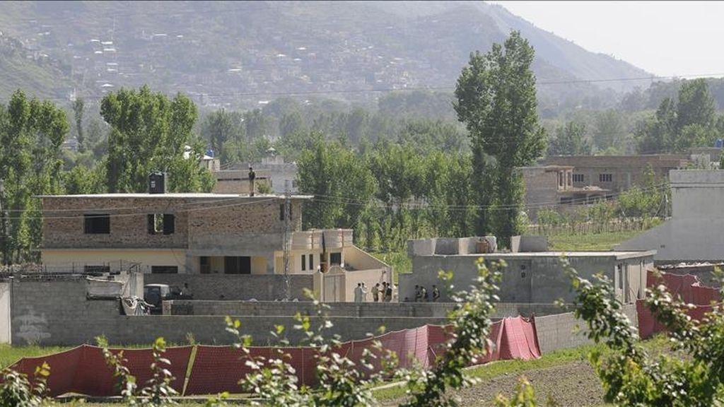 Vista general del complejo donde presuntamente las fuerzas estadounidenses mataron al líder de la red terrorista Al Qaeda, Osama Bin Laden, en la localidad de Abbotabad, cerca de Islamabad (Pakistán). EFE