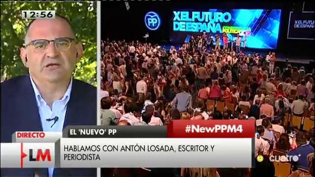 """A. Losada: """"Me dan ganas de pedir disculpas al PP por no entender que este dolor que nos han infringido era por nuestro bien"""""""