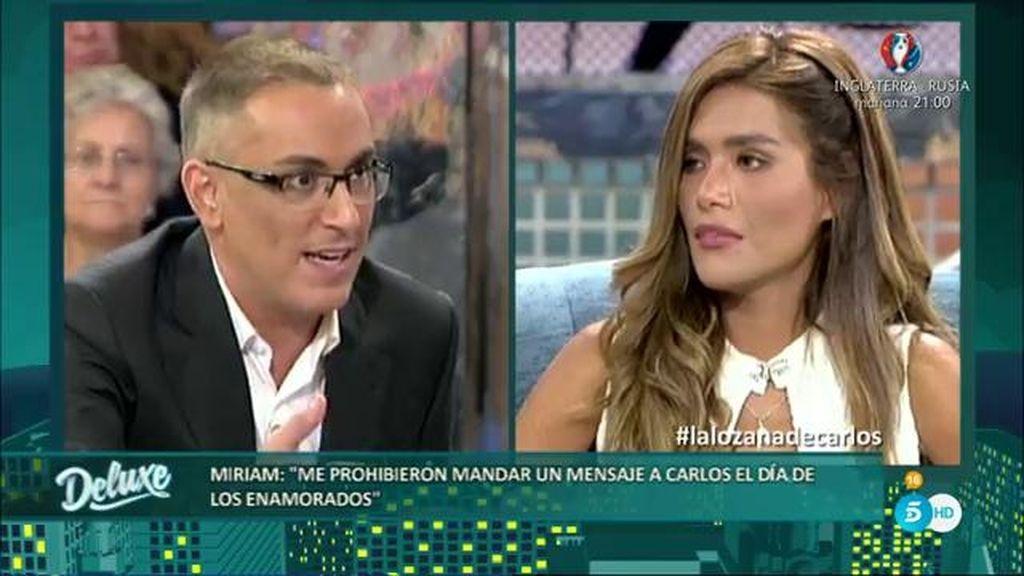 """Miriam: """"Quiero tanto a Carlos que no me voy a meter con Mónica por su hija"""""""