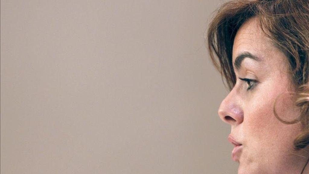 La portavoz parlamentaria del PP, Soraya Sáenz de Santamaría. EFE/Archivo
