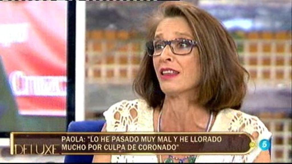 """Paola Dominguín, sobre Coronado: """"Hubo un tiempo que no le podía ni ver"""""""