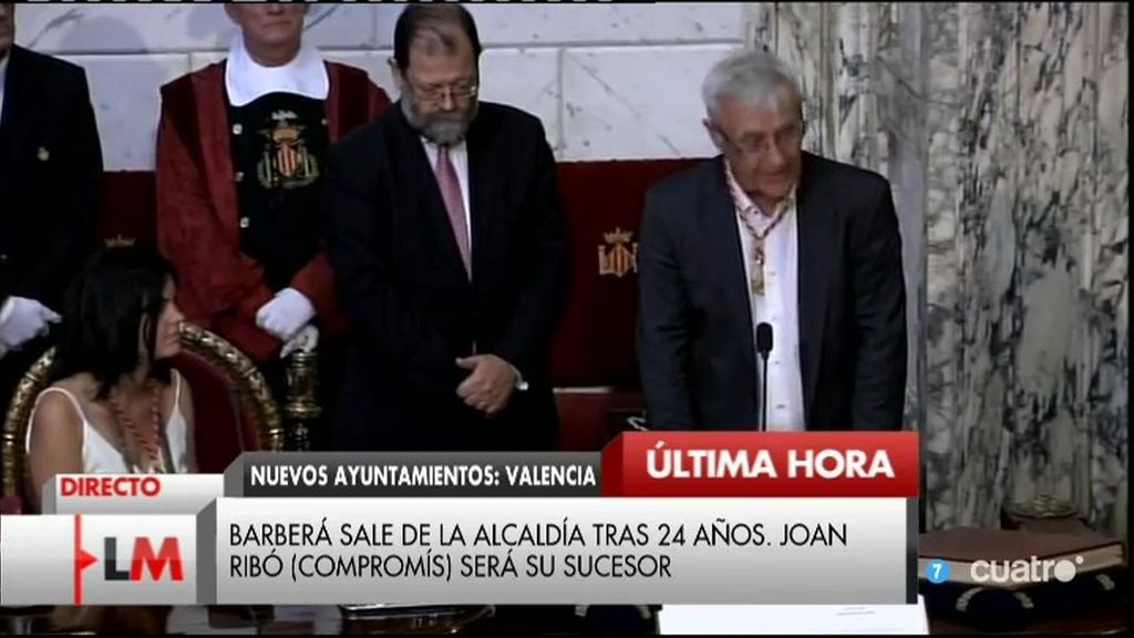 Joan Ribó, de Compromís, se convierte en el nuevo alcalde de Valencia
