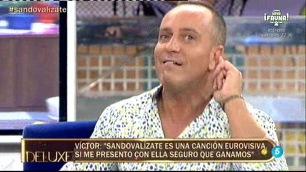"""Víctor Sandoval desvela su sueño: """"Llevo intentando ir a Eurovisión desde el año 89"""""""