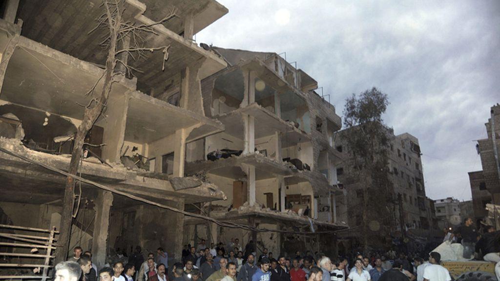 Explota un coche bomba en un barrio de Damasco, Siria