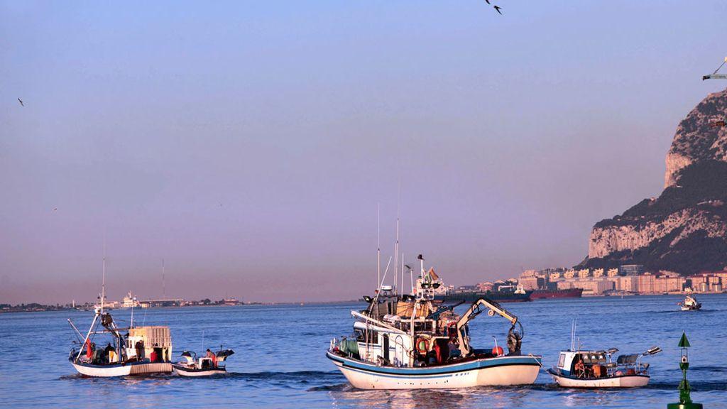 Pesqueros del puerto de Algeciras salían esta tarde para faenar en aguas de la bahía