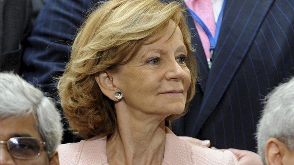 La ministra española de Economía y Hacienda, Elena Salgado. EFE/Archivo
