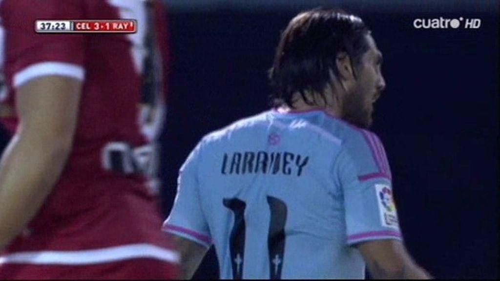 Larrivey empujó una pelota muerta en la línea de gol y puso el 3-1 en el marcador