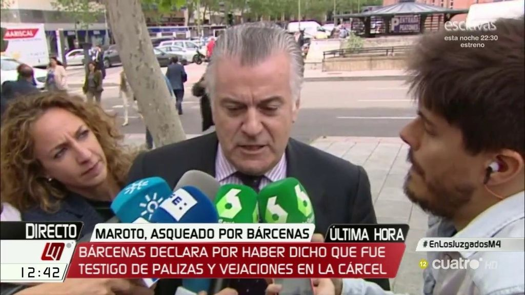 """Bárcenas califica a Maroto como político """"de escaso nivel"""" y asegura que le produce """"repugnancia"""""""