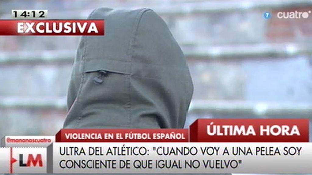 """El testimonio de uno de los ultras del Atlético: """"Lo que se intenta es dar una lección, no acabar con la vida de nadie"""""""