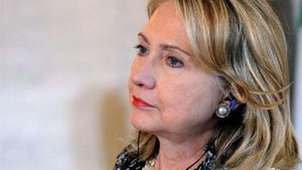 Clinton, en España. Foto: EFE.