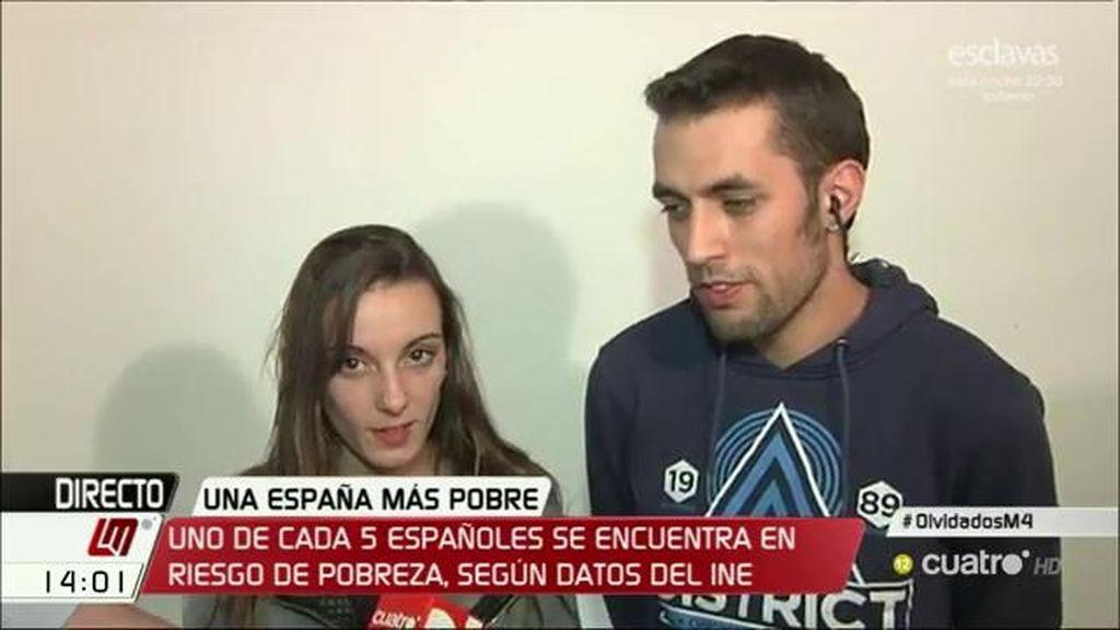 Ángela y Cristian, tras conseguir parar su desalojo, piden ayuda