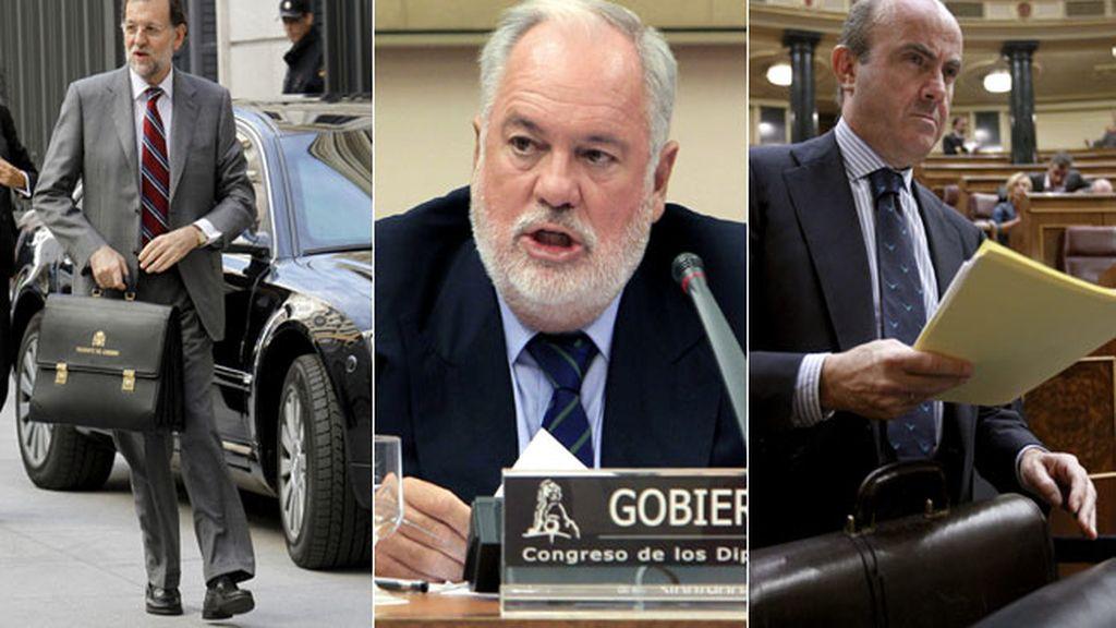 Mariano Rajoy, Miguel Arias Cañete y  Luis de Guindos, los más ricos del Gobierno