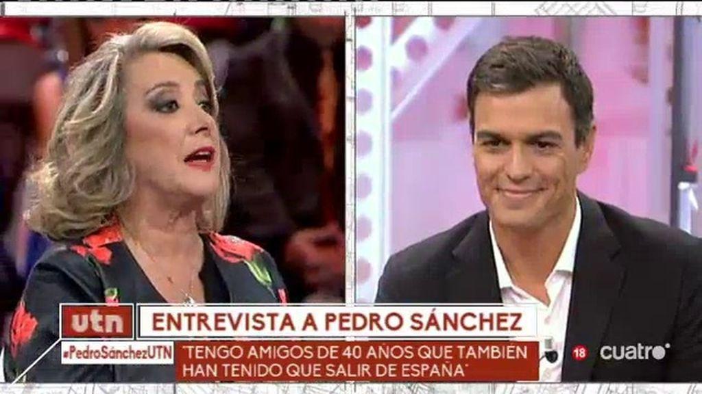 """Pedro Sánchez: """"Yo no quiero a Susana Díaz conmigo, yo la necesito"""""""