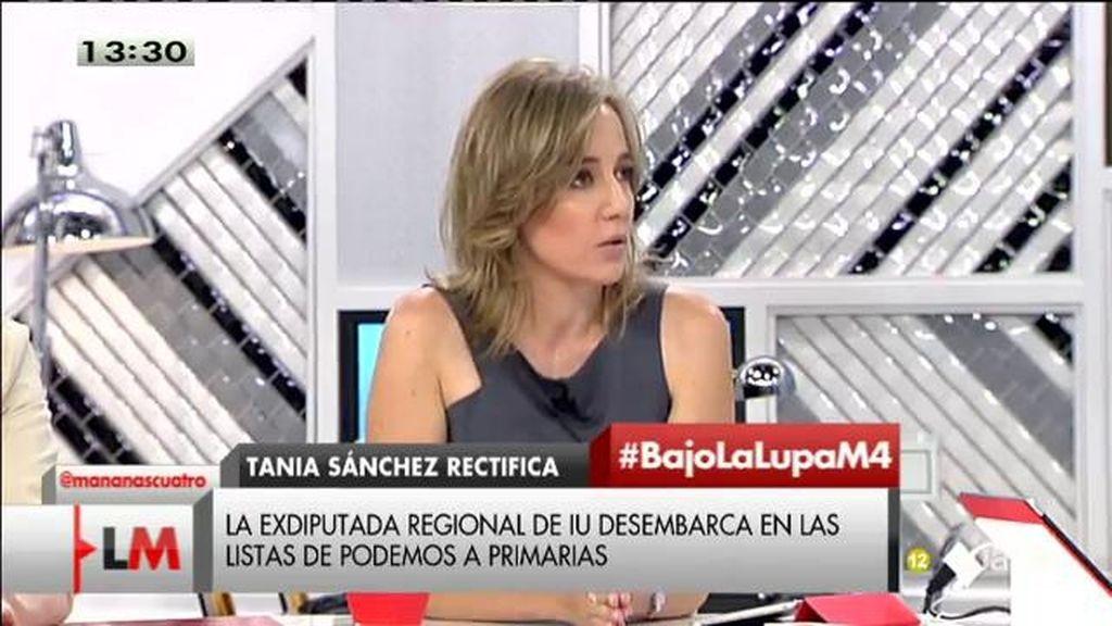 """Tania Sánchez, de Podemos: """"Puedes participar de procesos de colaboración con el cambio sin ser parte de su estructura"""""""