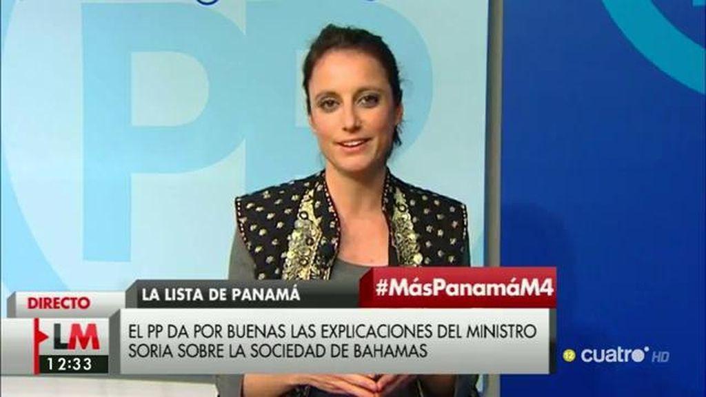 """Andrea Levy: """"Hay unas informaciones que Soria ya ha negado y los que piden la dimisión creo que se apresuran y mucho"""""""