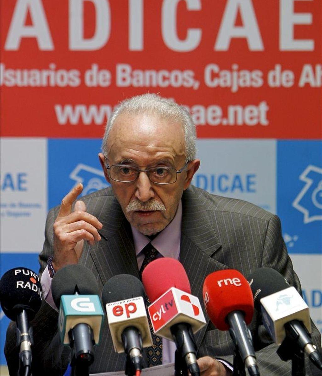 El presidente de la ADICAE, Manuel Pardos EFE/Archivo