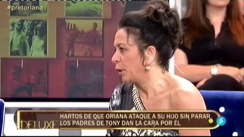 "Pina, madre de Tony Spina: ""Oriana me ha decepcionado mucho"""