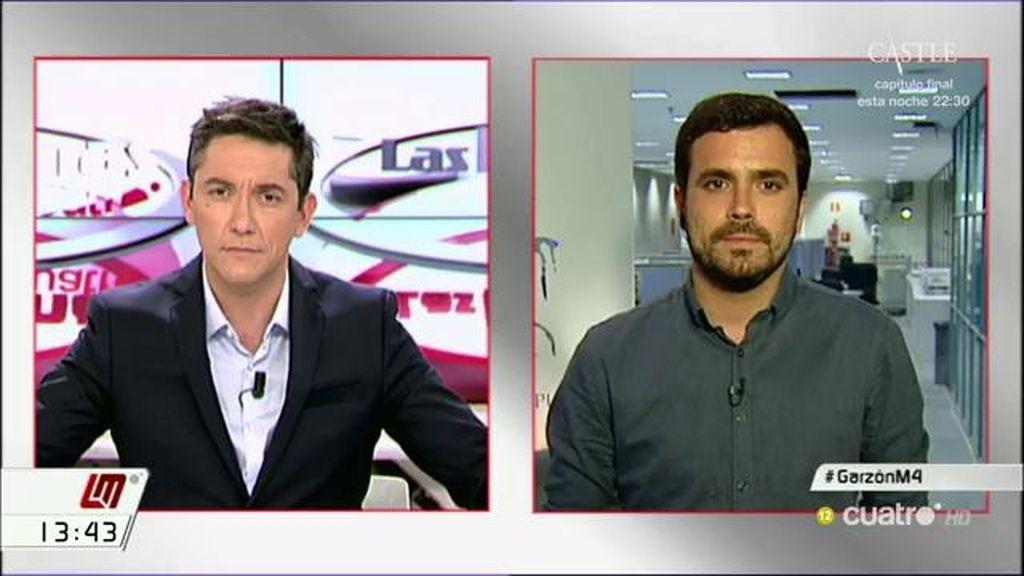 """Alberto Garzón: """"Hay que insistir en que Cayo Lara y quienes piensan como él han dicho que en todo caso van a votar"""""""