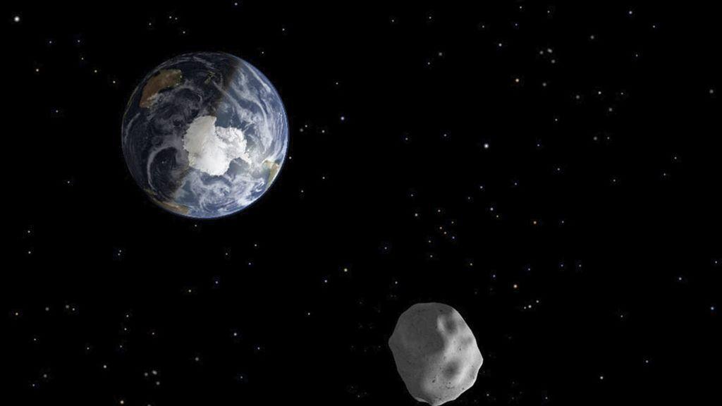 Recreación de la NASA de un asteroide próximo a la Tierra