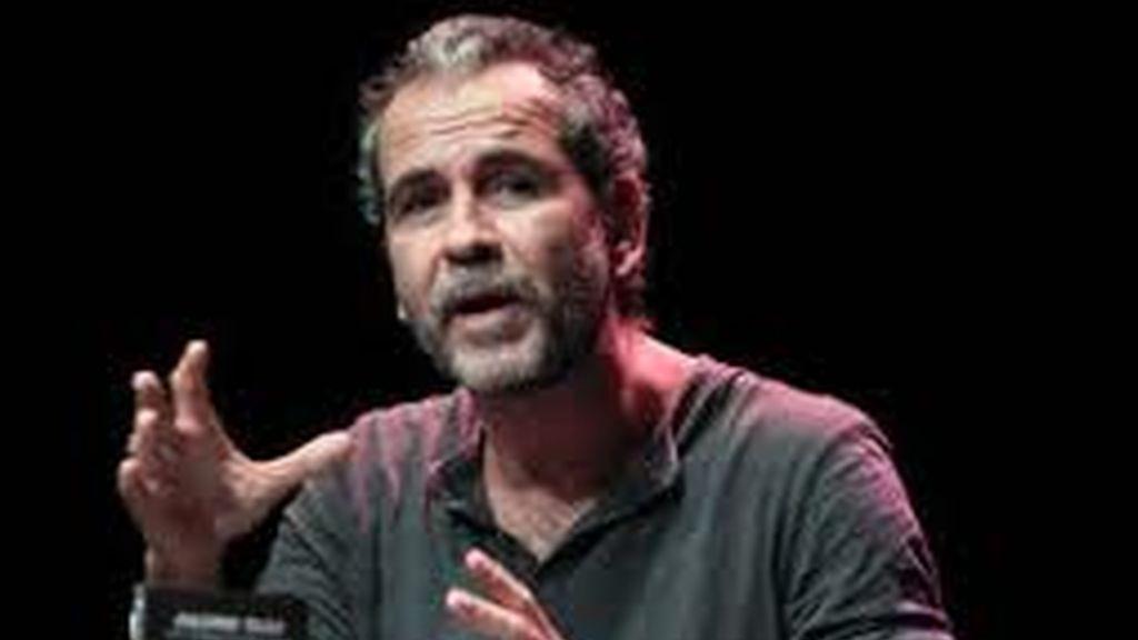 Willy Toledo durante la presentación de su libro 'Razones para la rebeldía'