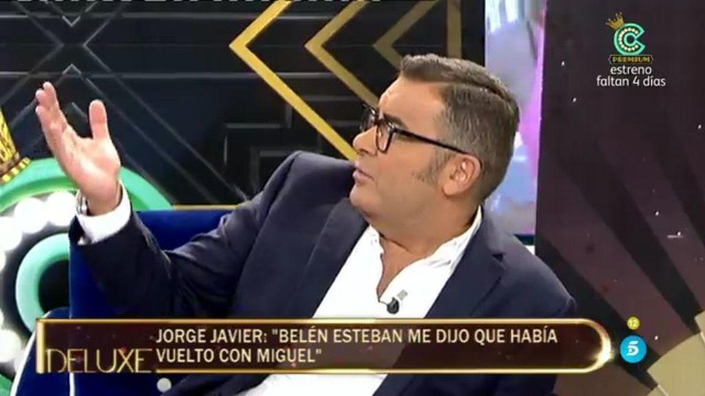 """Jorge Javier: """"Me parece fenomenal que Belén Esteban haya perdonado una infidelidad"""""""