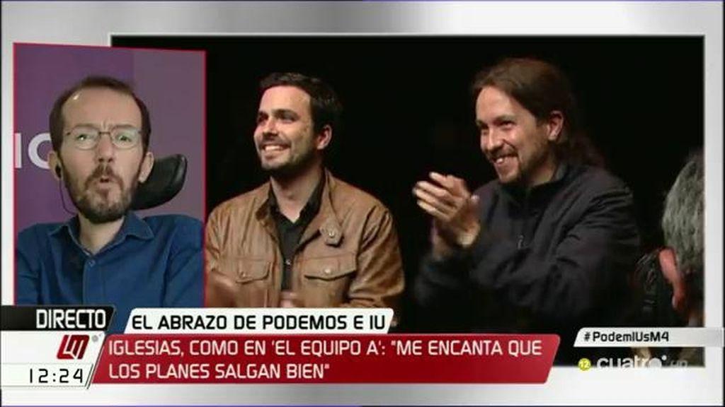 """Pablo Echenique, tras el acuerdo de IU-Podemos: """"Si se repitieran los resultados, estaríamos a un millón de votos del PP"""""""