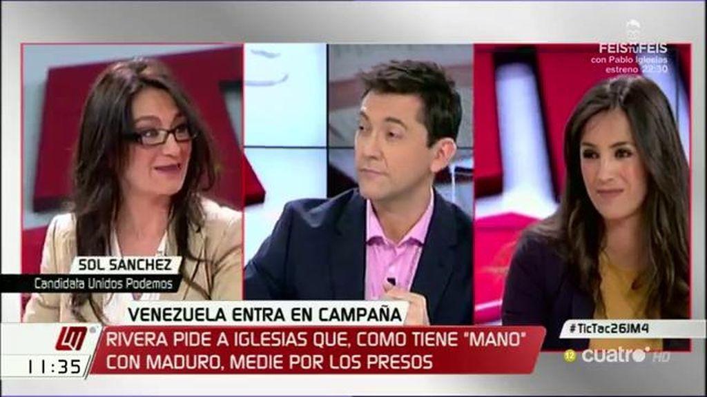 """Begoña Villacís: """"Pablo Iglesias fue el primero que introdujo Venezuela en el debate"""""""