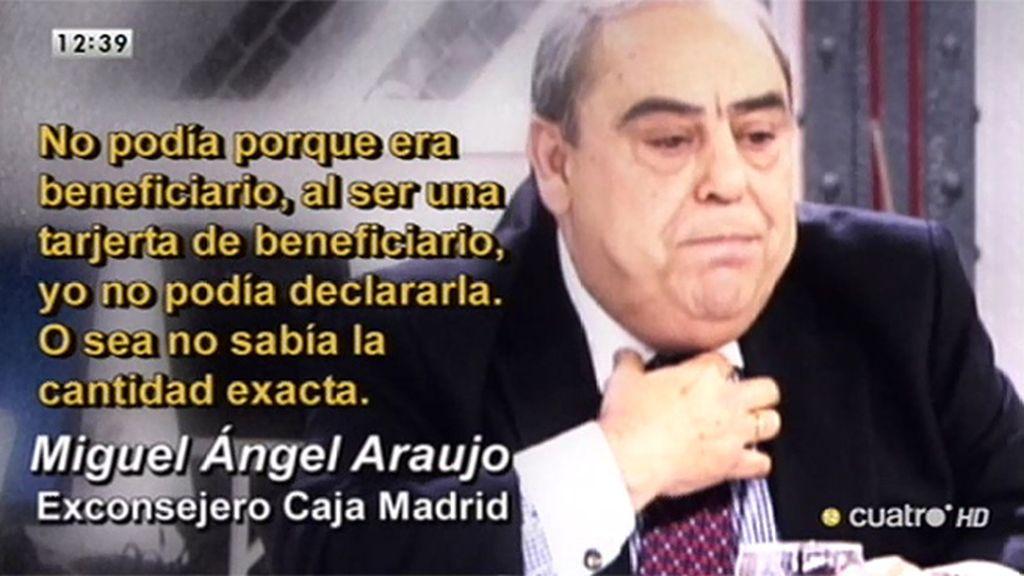 La declaración de Miguel Ángel Araujo ante el juez por las 'black'