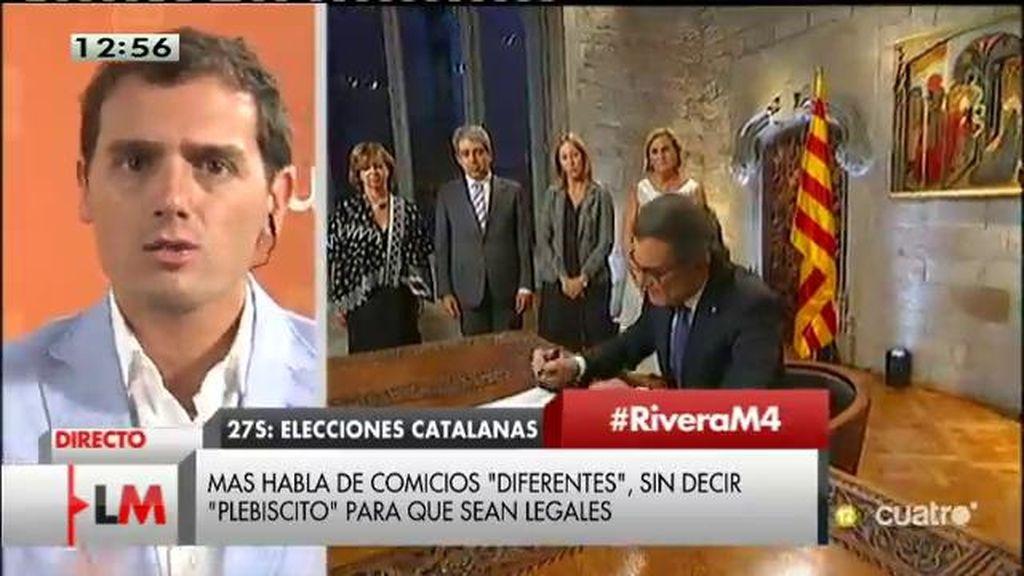"""Albert Rivera: """"El único plebiscito que hay es si queremos que Artur Mas siga o no al frente de este camino sin salida"""""""