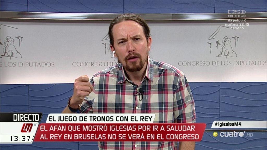 """Pablo Iglesias: """"Una recepción o un besamanos no sirven para nada"""""""