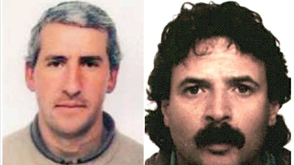 Combo de fotografías de los presuntos miembros de la organización ETA Pedro Esquisabel Urtuzaga (i) y José Manuel Ugartemendía Isasa. EFE/Archivo