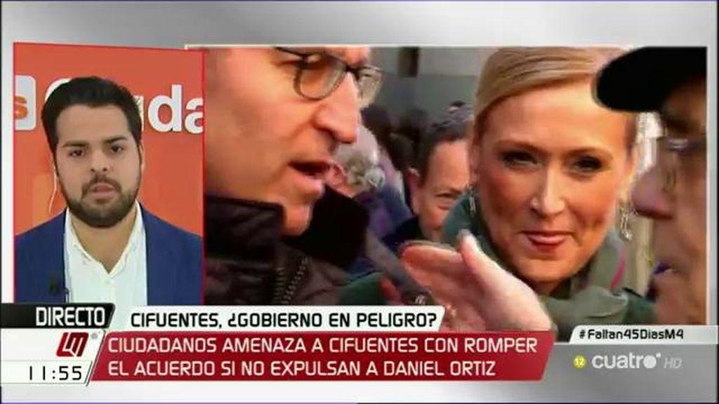 """Fernando de Páramo: """"Si Ortiz no se va a su casa, rompemos el pacto con el PP"""""""
