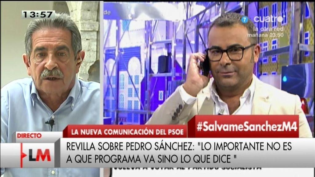 """Revilla, sobre el 'Sálvame' de Pedro Sánchez: """"Lo importante no es a qué programas vas, sino lo que dices"""""""