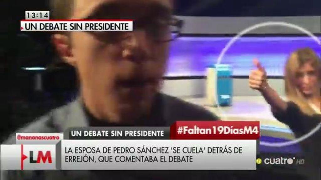 La esposa de Pedro Sánchez 'se cuela' en el vídeo de Íñigo Errejón