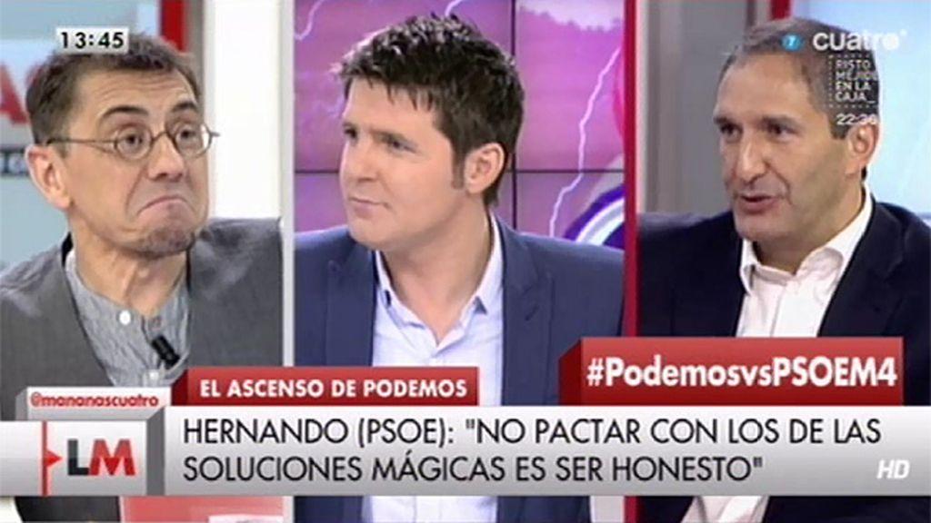 """J. Cepeda (PSOE): """"Nuestro adversario fundamental no es Podemos, es el PP"""""""