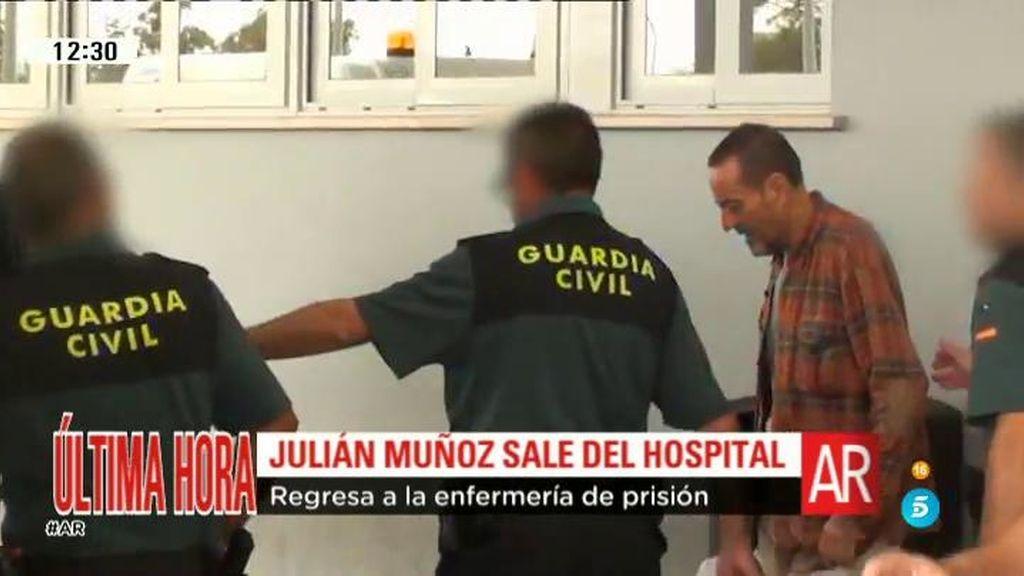 Julián Muñoz recibe el alta y regresa a la enfermería de la prisión