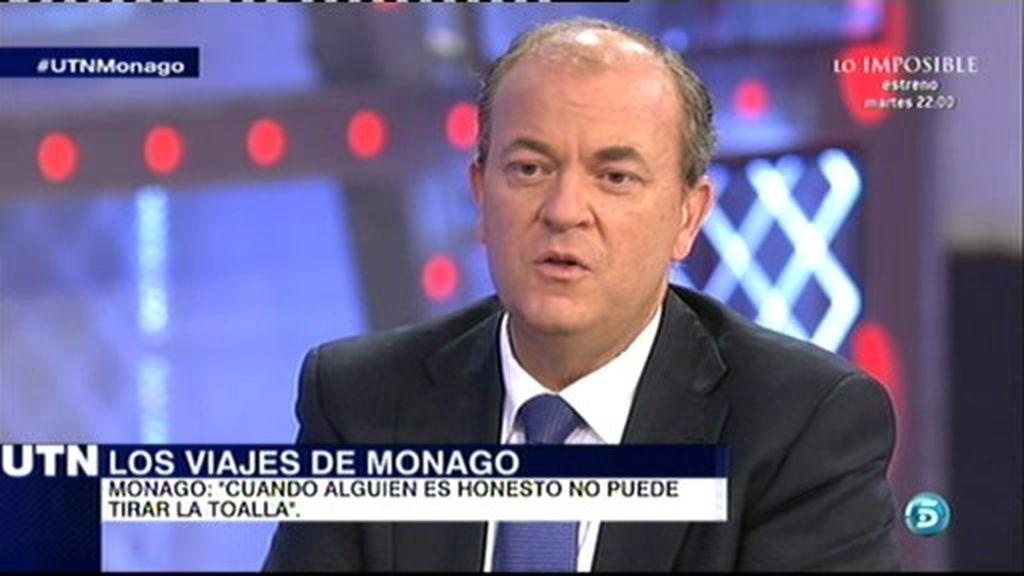 """José Antonio Monago: """"Cuando una persona es honesta no debe tirar la toalla"""""""