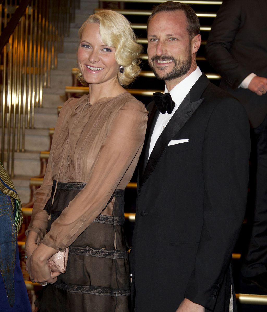 Haakon y Mette Marit, príncipes de Noruega