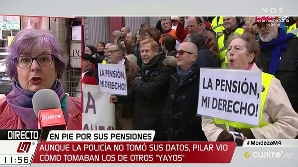 """Pilar, jubilada: """"Los 'yayoflautas' ni tenemos miedo, ni somos unos sumisos"""""""