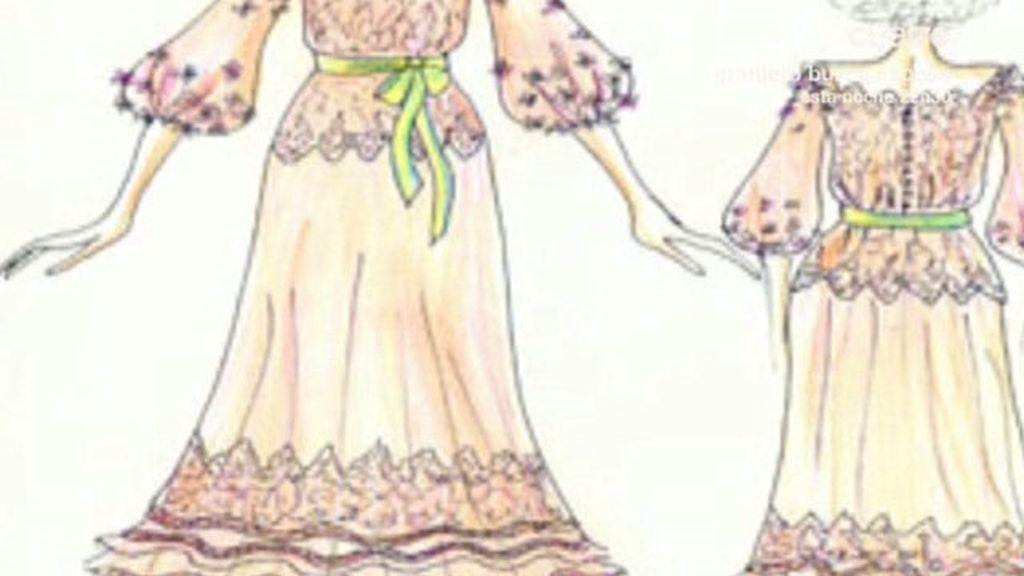 El vestido de novia de la Duquesa de Alba