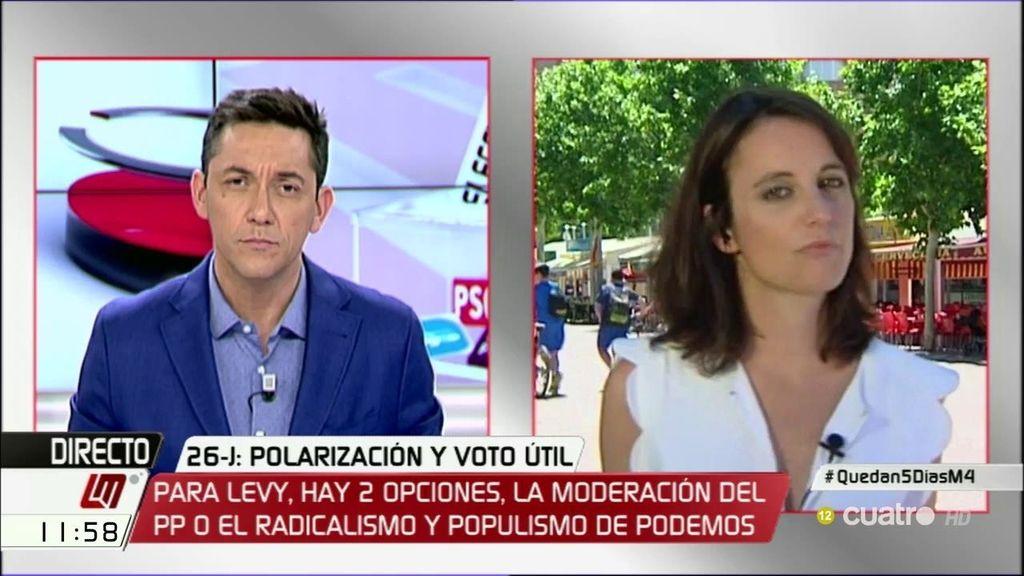 """Andrea Levy: """"El proyecto de Pedro Sánchez está siendo un fracaso"""""""